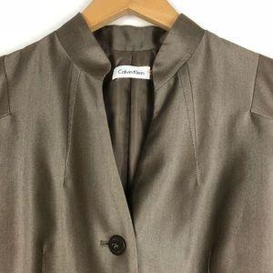 Calvin Klein Dresses - Calvin Klein 6 Bronze Cap Sleeve Sheath Dress d516
